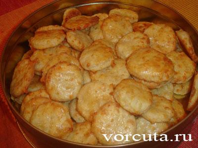 Приготовление сырного печенья: 2